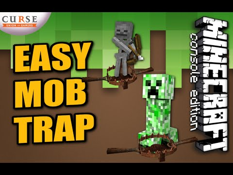 MINECRAFT - PS4 - EASY MOB TRAP TUTORIAL - HOW TO ( PS3 / XBOX )  UPDATE