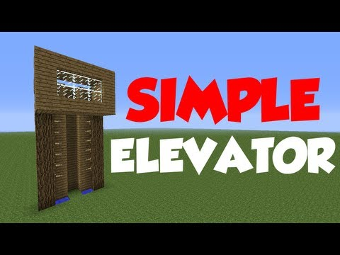 Minecraft 1.6: Redstone Tutorial - Simple Elevator (Doesn't work 1.7+)