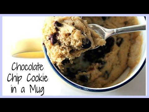 DIY Quick & Easy Chocolate Chip Cookie in a Mug   KKLemonCake