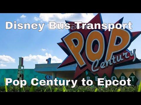 Disney Transportation = Pop Century To Epcot Via Bus @ Orlando Florida September 2012