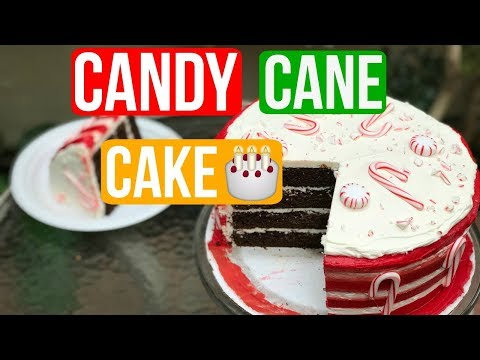 How To Make an EXTREME CANDY CANE CAKE for Christmas | Episode 49 Baking With Ryan