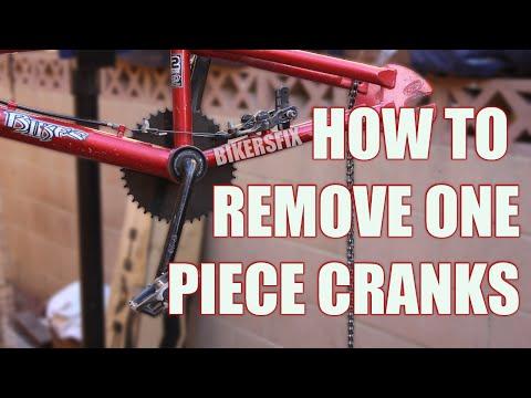 How to Remove One Piece Cranks Bottom Bracket bb