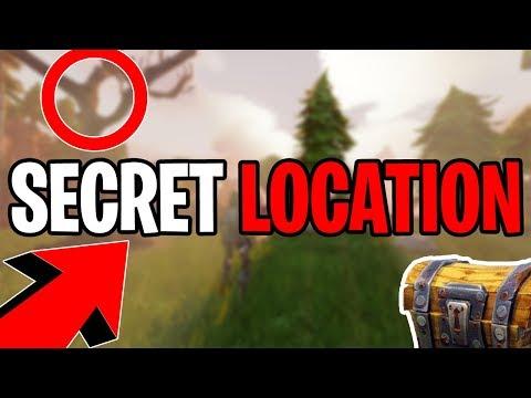 FORTNITE SECRET LOOT CHEST LOCATION! - FORTNITE TUNNEL SECRET LOCATION