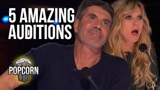 5 AMAZING AUDITIONS ON America's Got Talent 2021