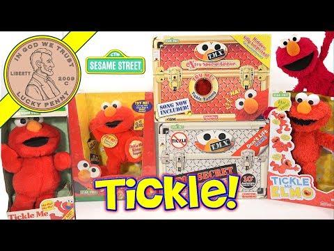 Tickle Me Elmo Through History! 1996 To 2017 - TMX 6 Secret Tickles!