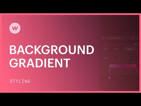 Background gradients - Webflow CSS tutorial