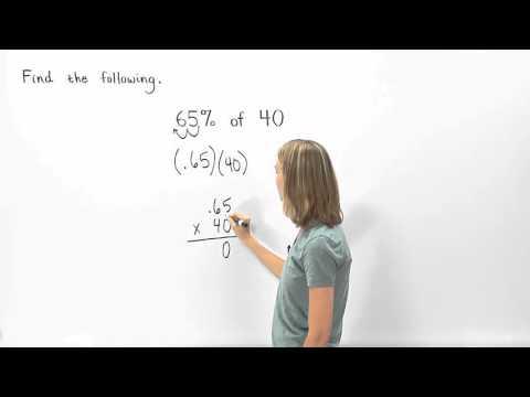 Percent of a Number | MathHelp.com
