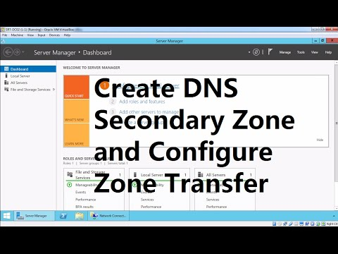 7.  DNS Secondary Zone and Zone Transfer Windows Server 2012 R2