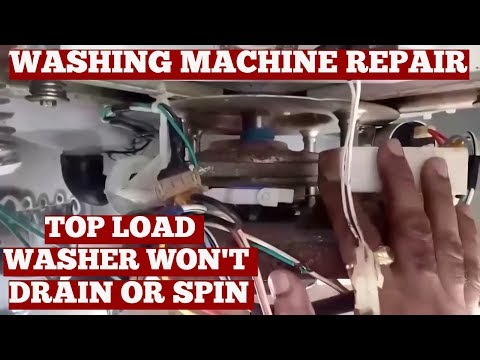 Top Load Washer Won't Drain Or Spin-Diy Washing Machine Repair At Home-Simple Repair On YouTube