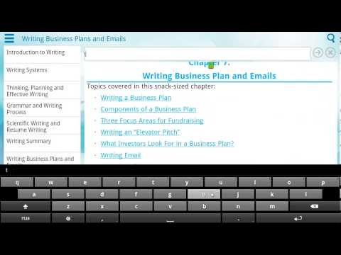 Demo of Learn English Writing App on Android Tablet