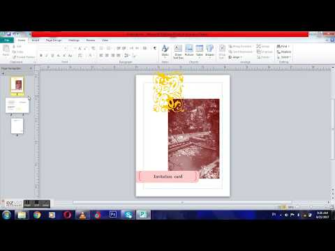 how to create a wedding invitation card on microsoft office
