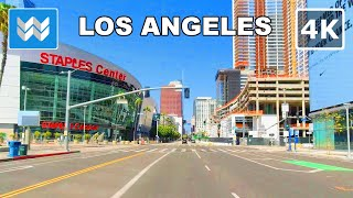 【4K】 Driving around Downtown Los Angeles during Lockdown / Quarantine in California USA