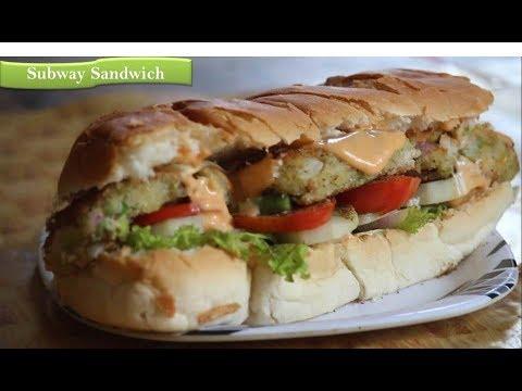 Subway Style Veggie Patty Sandwich | How To Make Sub Sandwich |Veggie Delight|By Rj Payal's Kitchen