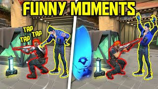 FUNNIEST MOMENTS IN VALORANT #54...