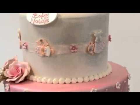 How to make cake Baby Theme 3 tier cake