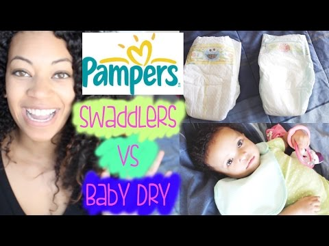 Pampers Review Swaddlers VS. Baby Dry Diapers