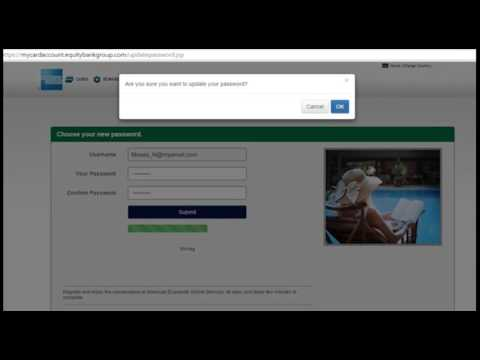 Equity Bank American Express - How to Register for My Account