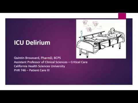 ICU Delirium Readiness Lecture 11-16-16