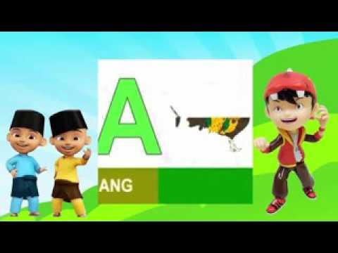 Video Belajar ABC Bersama Upin Ipin & Boboiboy.