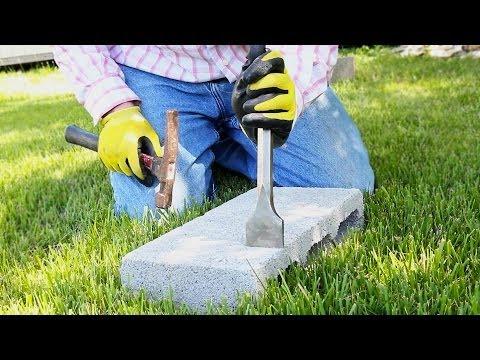 Cut Concrete Bricks