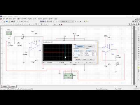 Multisim Simulation of Low-Pass Filter