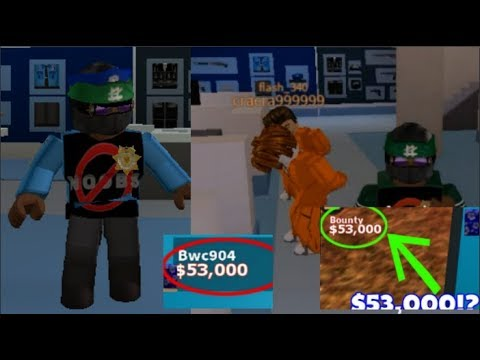 BECOMING A COP!?!? ARRESTNG PLAYERS WITH HIGH BOUNTY!?!? ROBLOX JAILBREAK (COP)