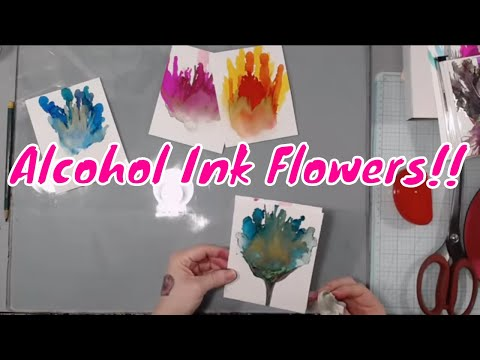 Crafty Playtime - Journal Making, Alcohol Ink Flowers and MORE!