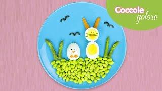 Uova a forma di pulcino e coniglietto di Pasqua con verdure - Ricette per bambini di Coccole Sonore