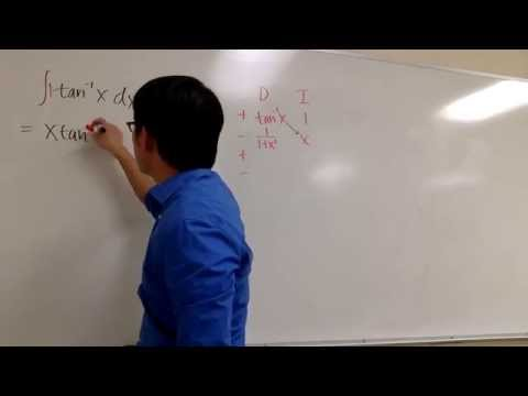 Integral of tan^-1(x)