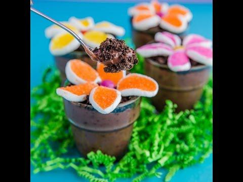 Flower Pot Pudding Dirt Cups