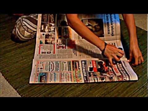 DIY - how to make biowaste bag from newspapers