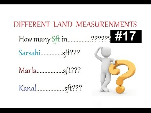 Different Land Measurements we use in our field sides in Urdu/Hindi