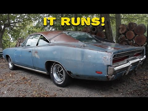 ABANDONED 1969 Dodge Charger Runs After 20 Years