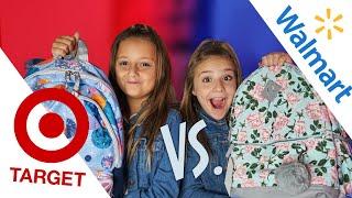 BACK TO SCHOOL HAUL/GIVEAWAY (Target vs Walmart)   Piper Rockelle