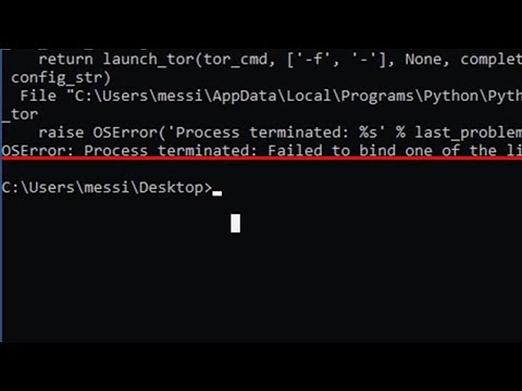 [SOLVED] OSError: Process terminated: Failed to bind one of the listener ports.