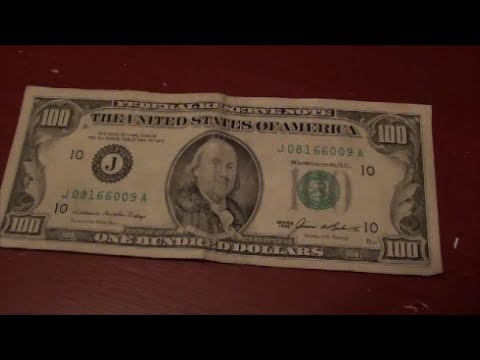 Really OLD $100 bill found in circulation today | 1985 $100 bill found in 2013