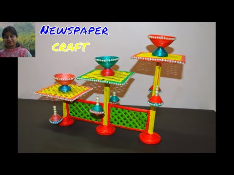 Newspaper Diy |How To Make Candle Holder With Newspaper | Home Decoration Special