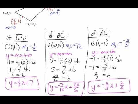 Orthocenter (Altitudes) - Algebra
