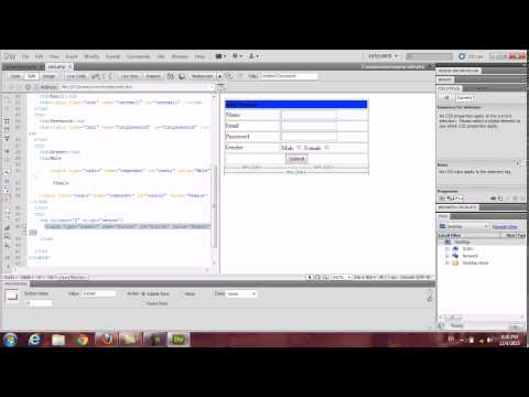 How to Insert data into database using DreamWeaver