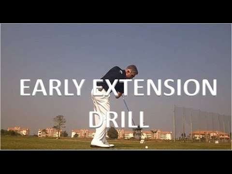 Golf: Early Extension Drill
