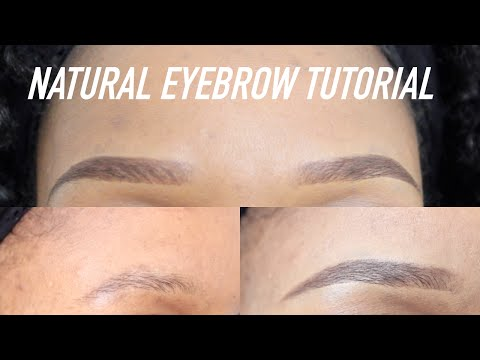 Quick & Easy Natural Looking Eyebrows Tutorial! Perfect With or Without Makeup ⎮ Pauline Walter