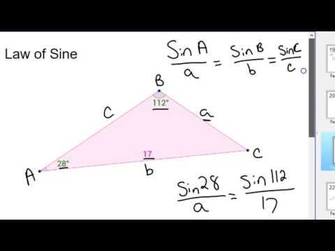 How to use law of sine