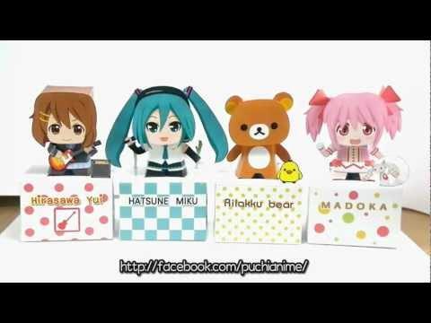 Puchi Anime - Japan Anime Papercraft Toys Bobbleheads !