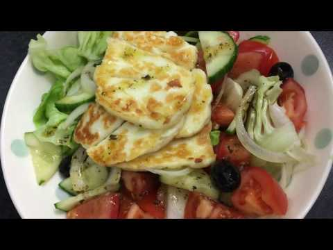 Greek Salad with Haloumi quick easy healthy recipe