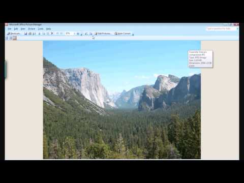 Compressing Photo Files Using Microsoft Office Picture Manager