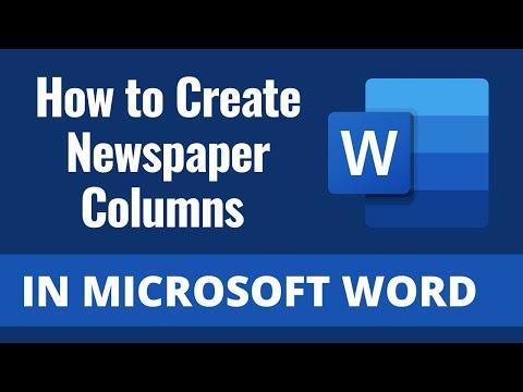 Make a Newspaper in Microsoft Word