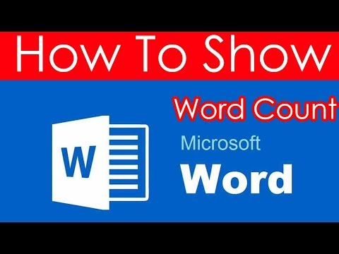 How to show Word Count in Microsoft Word 2016