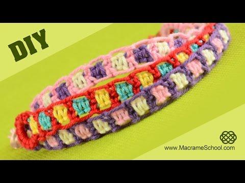 DIY Easy Friendship Bracelets using Square Knot