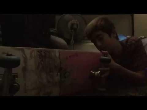 Fixing my skateboard