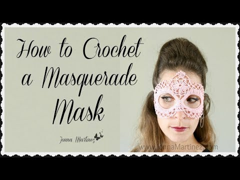How To Crochet a Masquerade Mask
